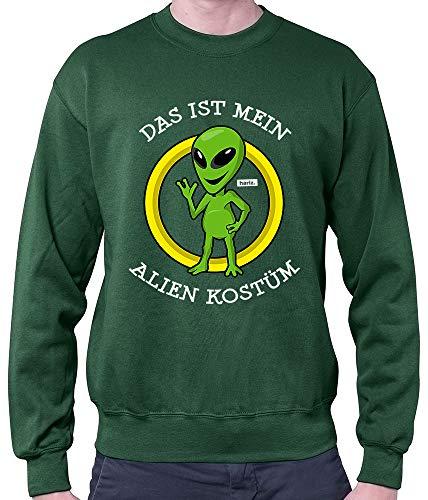 r Das Ist Mein Alien Kostüm Karneval Kostüm Plus Geschenkkarte Dunkel Grün S ()