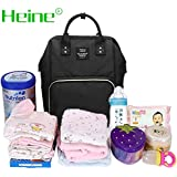 Heine Mummy Backpack Diaper Bag Multi-Function Waterproof Travel Backpack Nappy Bags For Baby Care