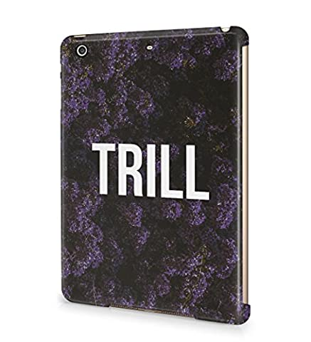 Trill Dark Purple Wild Flower Pattern Durable Hard Plastic Snap On Tablet Case Cover Shell For iPad Mini 2 / Mini 3 Coque Housse Etui