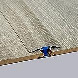 Laminat-Übergangsschiene Nostalgie Eiche Grau Wood Textur 900 m, für 0-4 mm Höhenunterschied