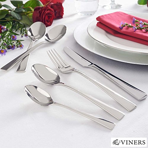 Viners 34 Piece Mayfair Premium 18.10 Stainless Steel Rust Resistant Dishwasher Safe Cutlery Set