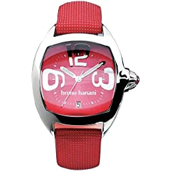 Bruno Banani CD3523.04 Ladies Stainless Steel Watch with Date Feature and Red Strap