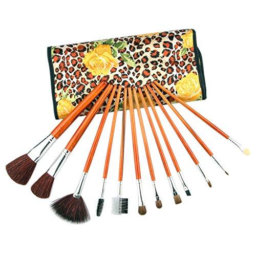 Hrph 12pcs Mode Kits Pinceaux de Maquillage Professionnels Outils Cosmétique Beauté Brosse pour le Visage Make Up Set