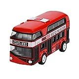 Ziehen Sie zurück Autos für Kleinkinder, AmaMary ziehen Bus-Sammlungs-Modell zurück Doppeldecker-Stadtbus spielt Bus-Legierung Diecast-Stadtbus für Kinderjungen-Mädchen-Farbe gelegentlich