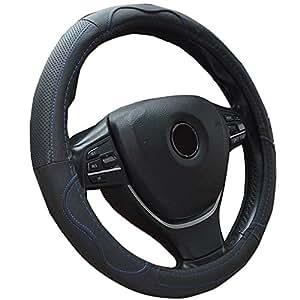 Semoss antiscivolo in vera pelle intrecciato in pelle di volante di frasi, Auto Volante/proteggivolante Tuning/volante di Sport/Confortevole proteggivolante