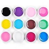 Fashion Galerie 12 Farben UV Gel Nagel Kunst Polish Satz Pure