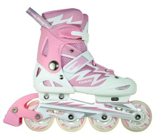 FA Sports SkateGears Kinder Inline-Skates, rosa (lady rosa, weiß), M/34-37