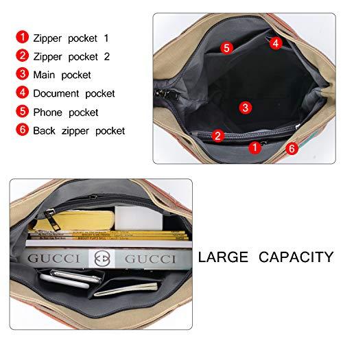 2014 Fashion Damen Mädchen Handtasche Umhängetasche Schultasche Alltagstasche Universal Leinwand Multifunktion mit Schulterträger - 7