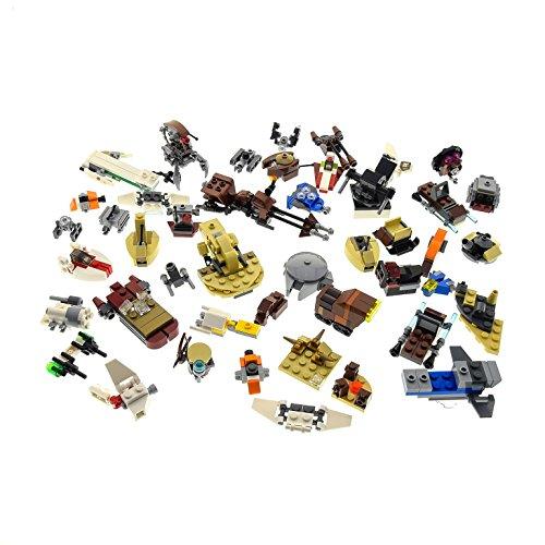 Bausteine gebraucht 1 x Lego System Star Wars Mini Teile Set Modelle für Micro Raumschiffe 911611 AAT 911608 Landspeeder 55555 Millennium Falcon grau Incomplete unvollständig