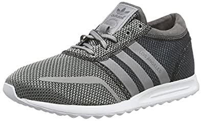 adidas Originals Men's Los Angeles Grey, Silver and White Sneakers - 12 UK
