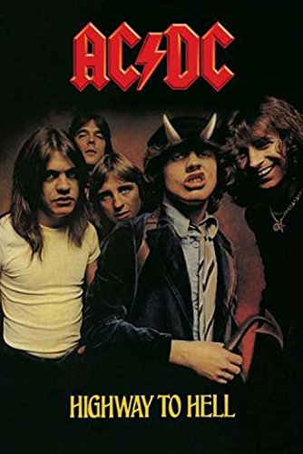 """1art1 37954 Poster """"AC/DC Highway To Hell"""" 91x61 cm"""
