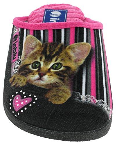 INBLU, Pantofole donna Black (Cats)