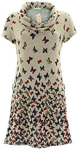 Purplish Strickkleid BUTTERFLY DRESS 7071 Grau S