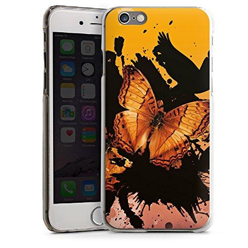 Apple iPhone 5s Housse Étui Protection Coque Papillon Grunge Art CasDur transparent