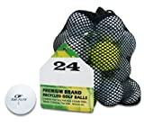 Second Chance Top Flite 24 balles de golf recyclées de catégorie A
