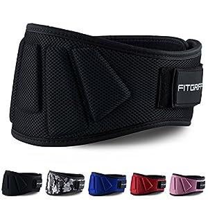 Fitgriff® Gewichthebergürtel V1 – Fitness-Gürtel für Bodybuilding, Krafttraining, Gewichtheben und Crossfit Training – Trainingsgürtel für Damen und Herren