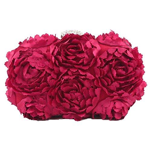 Damen Dinner Blumen Doubles Handy Kosmetik Party Party Taschen Pink