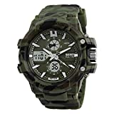 Faas Analogue-Digital Round Dial Military Print Sports Watch For Men & Boys Fw-0147Mw