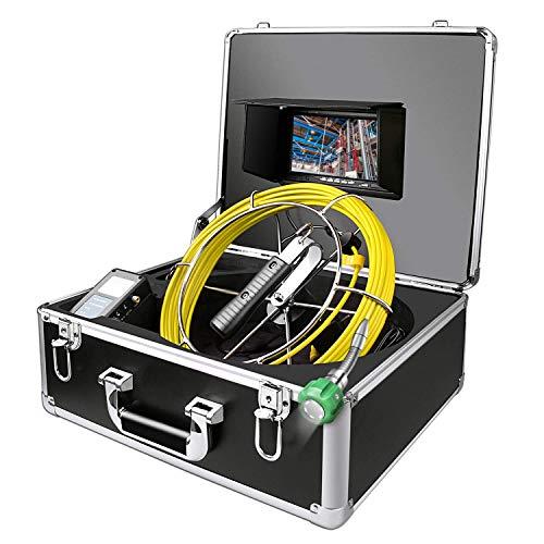 Rohrkamera-Inspektion, Abwasserkanal-industrielles Endoskop SY-20M Wasserdichtes IP68-Schlangen-Videosystem mit 7-Zoll-LCD-Monitor 1000TVL von CCD-Kamera