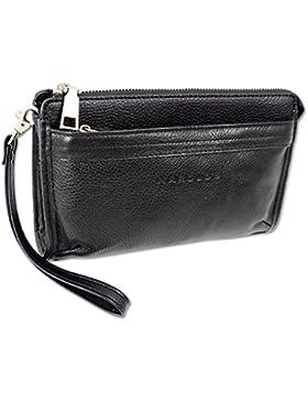 Herren Handgelenktasche Gelenktasche echt Leder mit sportlichem Charm Herren Handtasche von HAROLD'S Börsentasche...