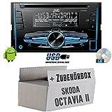 Skoda Octavia 2 1Z - JVC KW-R520E - 2DIN Autoradio Radio - Einbauset
