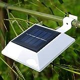 NORDSD 4 Stück Solarleuchten LED Solarleuchte 4 LEDs Wasserdicht Außenlampe Leuchte Wandlampe Solar für Garten, Terrasse, Fahrtweg, Höfe, Traufen , Zaun
