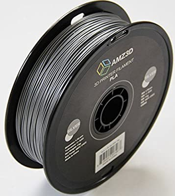 1.75mm Silver PLA 3D Printer Filament - 1kg Spool (2.2 lbs) - Dimensional Accuracy +/- 0.03mm