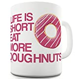 TWISTED ENVY Keramiktasse Eat More Donuts 15 OZ weiß