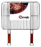 Somagic SO450310 Grille Double Acier Chrome 51 x 38 cm