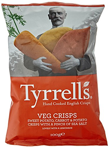Preisvergleich Produktbild Tyrrell's Sweet Potato,  Carrot und Potato with Sea Salt,  4er Pack (4 x 100 g)