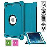 Aken – Étui renforcé pour iPad Mini 4 résistant aux chocs en silicone, s'ajuste parfaitement, veille automatique Bleu britannique