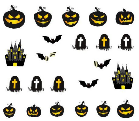 Halloween Cartoon Nagel Aufkleber Dekoration Wasser Transfer Halloween - A1128 Nail Sticker Tattoo - FashionLife