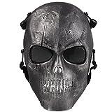 ADOO Ghost Skull Airsoft Paintball Maske Milit Rische Vollschutz Halloween Essen