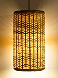 #6: TORA - Handmade Cane Lamp Shade without bulb (Brown) -