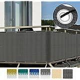 Sol Royal® SolVision Protección visual balcones y terrazas 500x90 cm Resistente a los rayos UVA y el viento Antracita