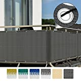Sol Royal® Balcony Screening SolVision Privacy Screen 3 m x 0.9 m UV Protection Sun & Wind Cover + Eyelets Anthracite