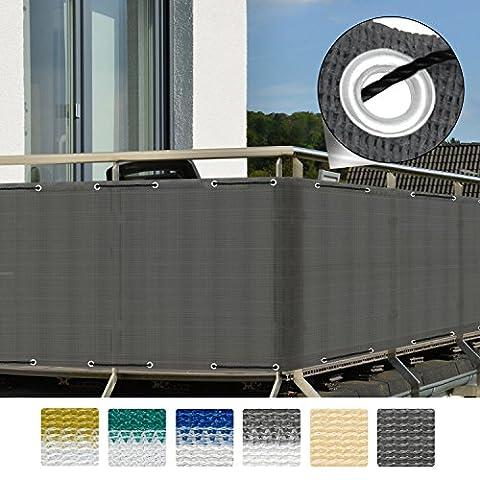 Sol Royal® Brise-vue pour balcon Terrasse à oeillets SolVision Protection Regards Vent Soleil 3x0.9m -
