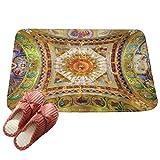 LvRaoo Fußabtreter Ethnisch Sonne Mond Schmutzfangmatte Fußmatte Türmatte für Badezimmer Küche Schlafzimmer (# 9, 60*40cm)