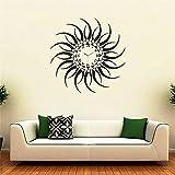 Syga Black Sun Design PVC Vinyl Wall Clo...