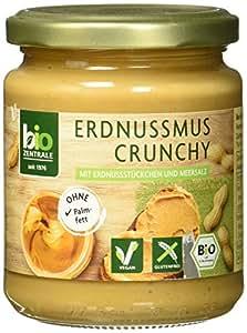 biozentrale Erdnussmus Crunchy, 3er Pack (3x250 g)