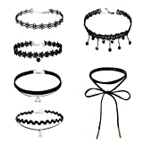 Best Necklaces 6 Piece - Rrimin Fashion Girl Jewelry Clavicle Short Necklace Lace Review