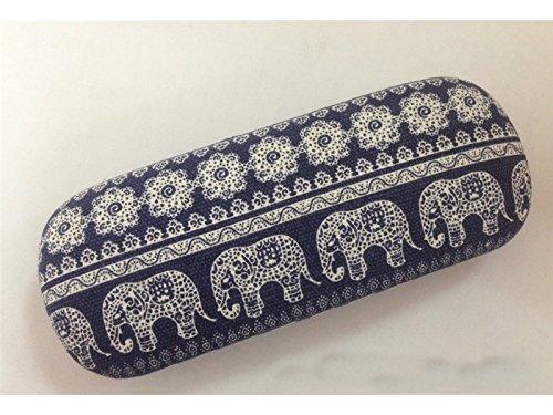 Young shinee Brillenetui Tragbarer Elefant entworfener Lesebrillen-Brillen-Sonnenbrille-Kasten für Lesebrille (Farbe : Blau, Größe : 16.2 * 6.25 * 3.75cm)