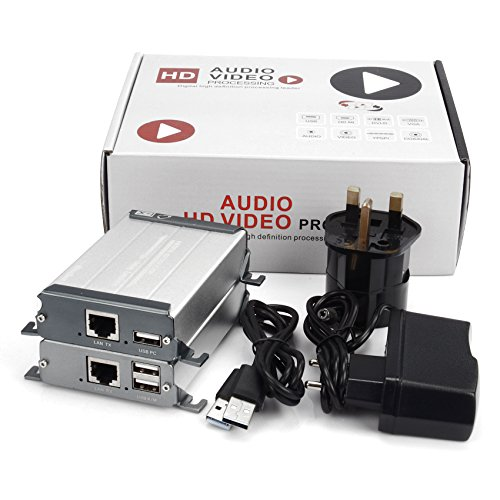 Mirabox 80 m KVM HDMI Extender über CAT5/Cat5e/Cat6/Cat6e Single LAN Kabel verlustfreie no-delay für DVR, DVD, Home Theater (arx560) (Cat Tv-dvd)