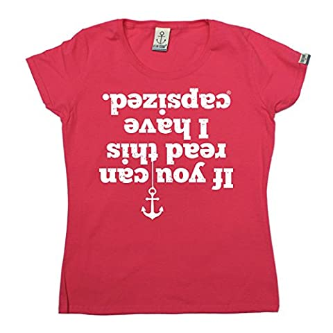 PREMIUM Ocean Bound - Womens If You Can Read This I Have Capsized FITTED T-SHIRT tee / sailing funny fashion birthday gift yacht boat accessories captain crew clothing christmas present for