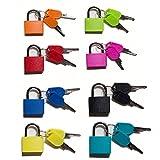 Lot de 8- multicolore cadenas valise cadenas en laiton cadenas a clef cadenas clé pour casier cadenas tsa autres couleurs coloré sont faciles à Distinguer