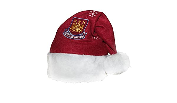 9d7ebccd97e West Ham United Novelty Christmas Santa Hat (One Size) (Maroon)   Amazon.co.uk  Clothing