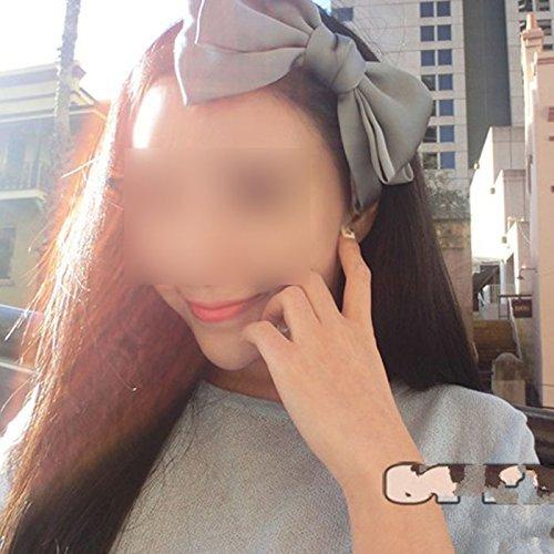 HuaYang Sweet, Koreanischer Style, Mit Großer Schleife Haarreif, Schleife, (Grau)