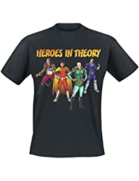 The Big Bang Theory Heroes In Theory T-shirt noir