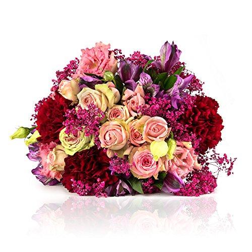 MIFLORA Blumenstrauß Alles Liebe | Entworfen von der Europameisterin (Zum Blumenstrauß Geburtstag)