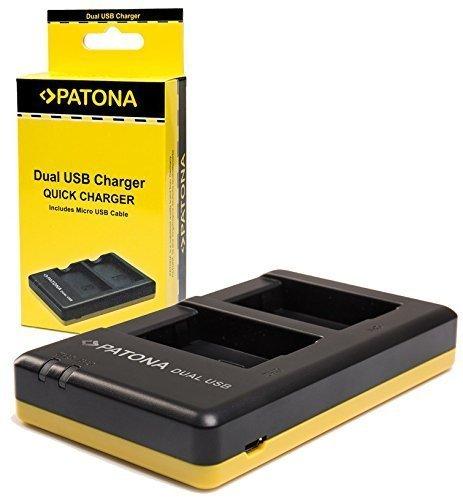 Patona USB Dual Ladegerät 1927 für Akku Sony NP-FZ100 zu Sony Alpha ILCE 7 III / Alpha 7R III / Alpha 9